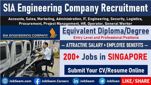 SIA Engineering Company Job Vacancy Openings SIAEC Careers Singapore
