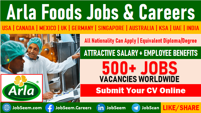Arla Foods Careers Submit Online Job Application for New Vacancies
