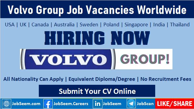 Volvo Group Job Vacancy Openings Volvo Careers and Employment Opportunities Worldwide