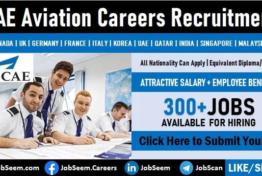 CAE Careers Vacancy and Worldwide Staff Recruitment Aviation Training Job Openings