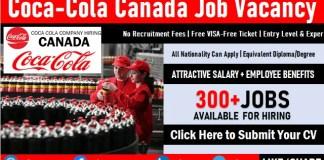Coca Cola Canada Jobs and Career Vacancies in Toronto, Calgary, Edmonton, Winnipeg, Brampton, Montreal