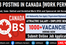Job Posting Canada Latest Canadian Job Posts with Sponsored VISA and Work Permit