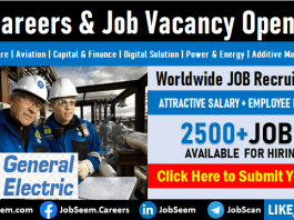 GE Careers Opening General Electric Co Jobs, Vacancies and Staff Recruitment