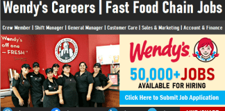 Wendy's Careers and Jobs Vacancy Hiring Submit Job Application for Staff Recruitment