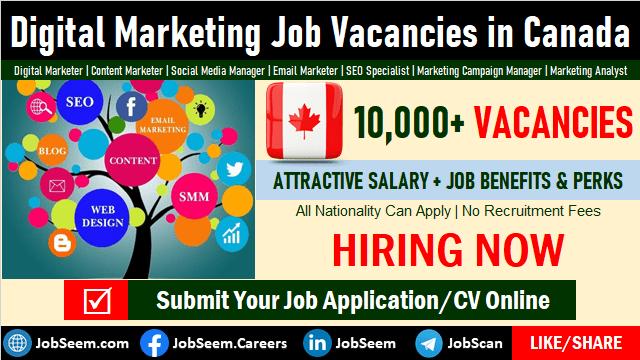 Digital Marketing Jobs in Canada Employment Scope, Salary and Career Vacancies
