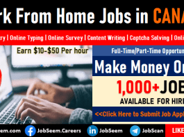 Work from Home Jobs in Canada, Part-Time Online Jobs and Careers to Make Money