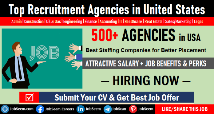 Top Recruiters in USA with Contact No. and Location, Best Employment Services, Staffing and Recruitment Agencies in United States