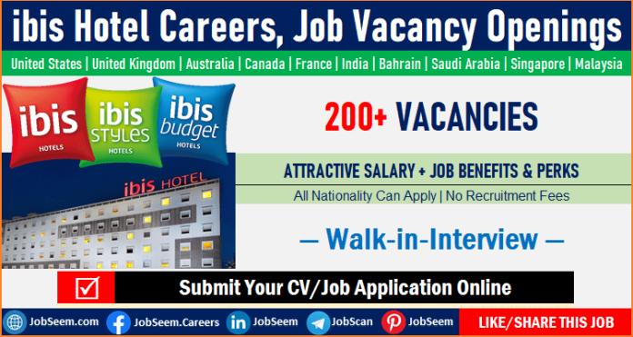 ibis Hotel Jobs and Careers Vacancies Worldwide, Hiring at ibis Hotel Openings
