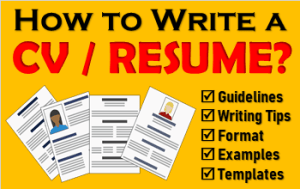How to Write CV or Resume