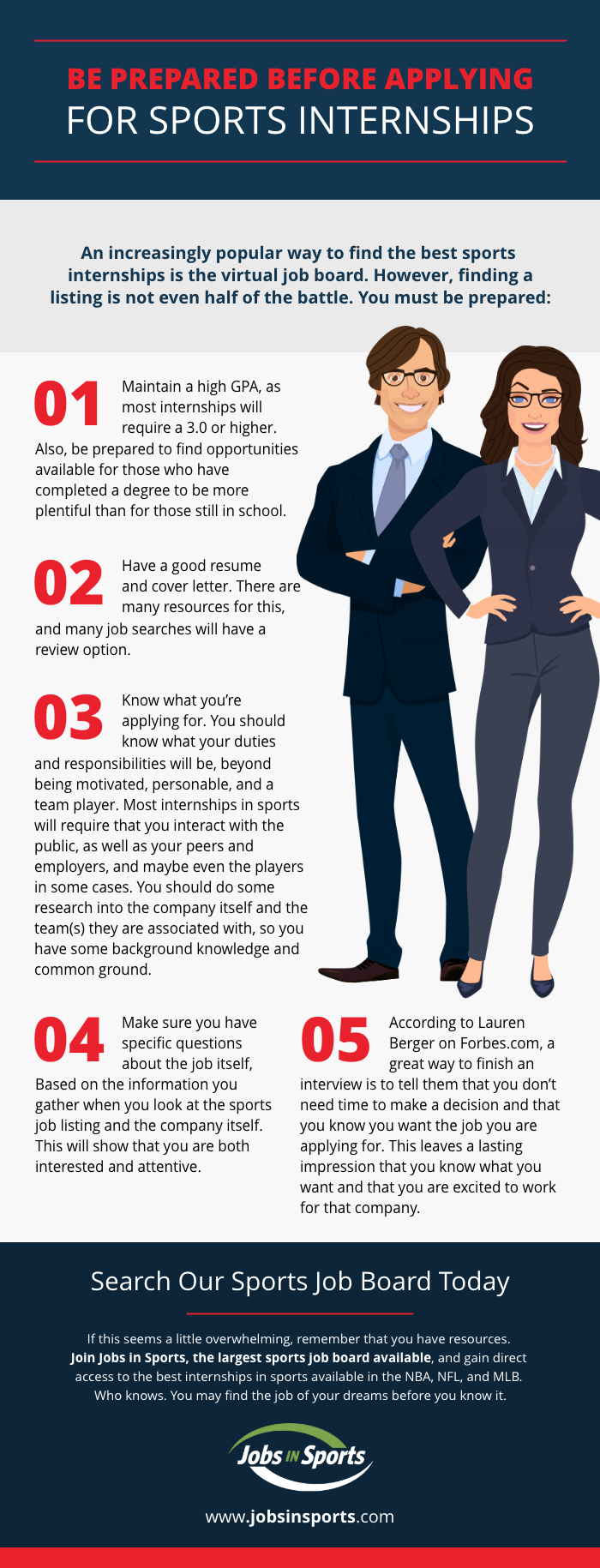 how to apply for a sports internship infographic