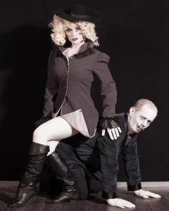 Katrina Stevenson and Jason Evans in Jobsite's Gorey Stories. (Photo by Pritchard Photography.)