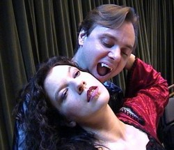 Ami Sallee and Brian Shea in Jobsite's Dracula.
