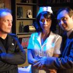 (L-R) Jason Evans, Elizabeth Fendrick and Brian Shea in Jobsite's Mindgame. (Photo by Brian Smallheer.)
