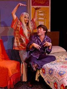 Katrina Stevenson and Chris Holcom in Jobsite's The Mineola Twins. (Photo by Brian Smallheer.)