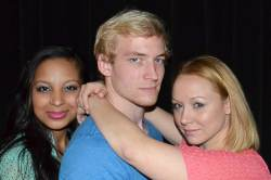 (L-R) Jessy Quinones, CR Mohrhardt and Caitlin Eason in the Job-side Production, Reverse Reverse.