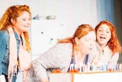 (L-R) Katrina Stevenson, Christen Petitt Hailey and Katie Castonguay in Jobsite's Crimes of the Heart. (Photo by Crawford Long.)