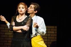 Katrina Stevenson and Giles Davies in Jobsite's Twelfth Night. (Courtesy Crawford Long.)