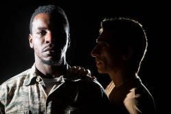 (L-R) Robert Richards Jr. and Giles Davies in Jobsite's Othello.