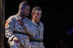 (L-R) Robert Richards Jr. and Giles Davies in Jobsite's Othello. (Photo by Pritchard Photography.)