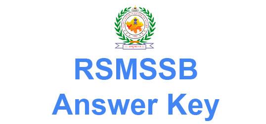 RSMSSB Supervisor Women Answer Key 2015 Available
