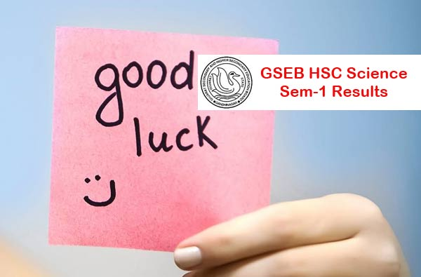 GSEB HSC 11th Science Result 2016 for Sem 2