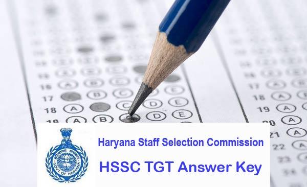 HSSC TGT Answer Key download