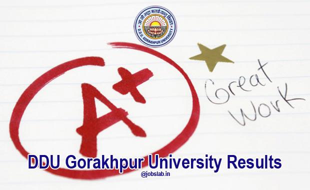 DDU Gorakhpur University Results for BA, MA, LLB, B.Com, BSC, BBA, BCA Exam