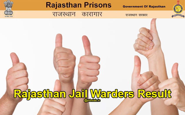 Rajasthan Jail Prahari Result 2016 With Merit List & Cut Off Marks Available