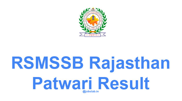 Rajasthan Patwari Result 2016 RSMSSB Patwari Pre Exam Result Declared