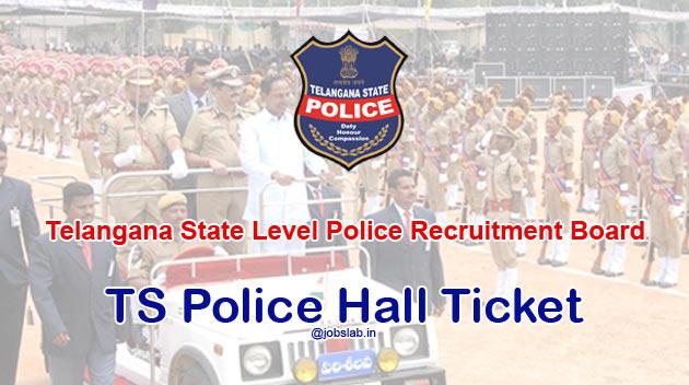 TSLPRB Hall Ticket 2016 Download TS Police Constable Hall Ticket 2016