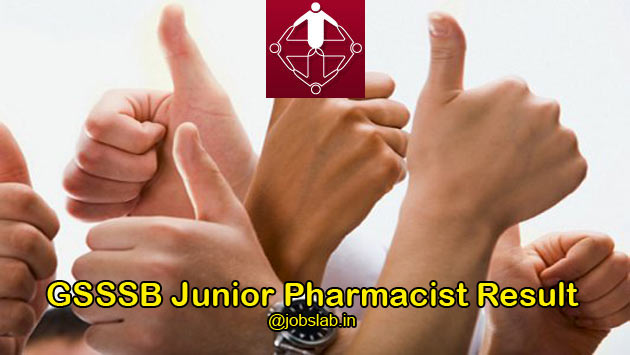 GSSSB Junior Pharmacist Result 2016 Merit List Available