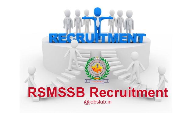 RSMSSB Recruitment 2016