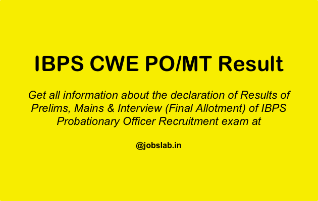 IBPS PO Result - Check IBPS Probationary Officer Results Here