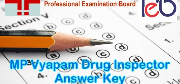 MP Vyapam Drug Inspector Answer Key