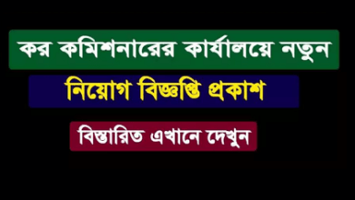 Photo of Tax Commissioner Office Job Circular 2021