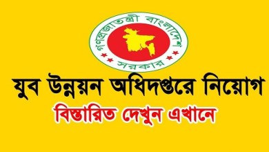 Photo of Bangladesh Youth Development Job Circular 2019