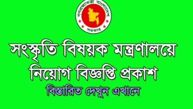 Photo of Ministry of Cultural Affairs Job Circular 2019