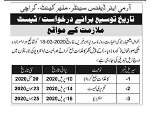 pak army air defence jobs may 2020