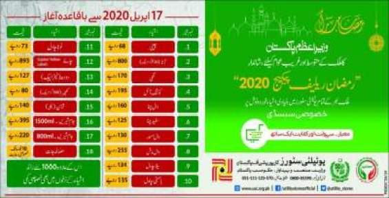 Ramadan Relief Package 2020 With Updated Price List