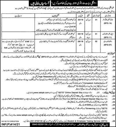 Wildlife Department KPK Jobs 2021 Application Form