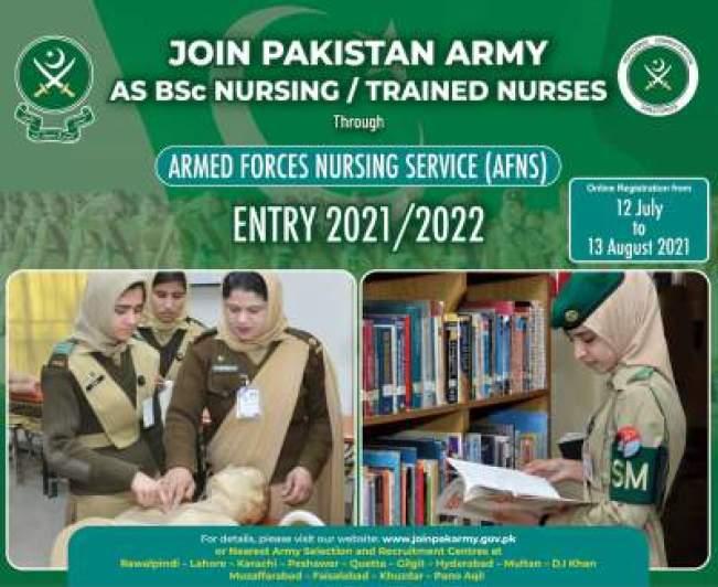 AFNS Jobs Online Registration 2021-22 Last Date