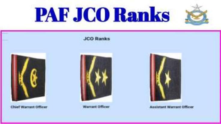 PAF JCO Rank Insignia
