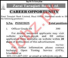 Zarai Tarakiati Bank Limited ZTBL Islamabad Jobs 2020
