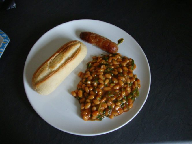 spicy beans on toast recipe