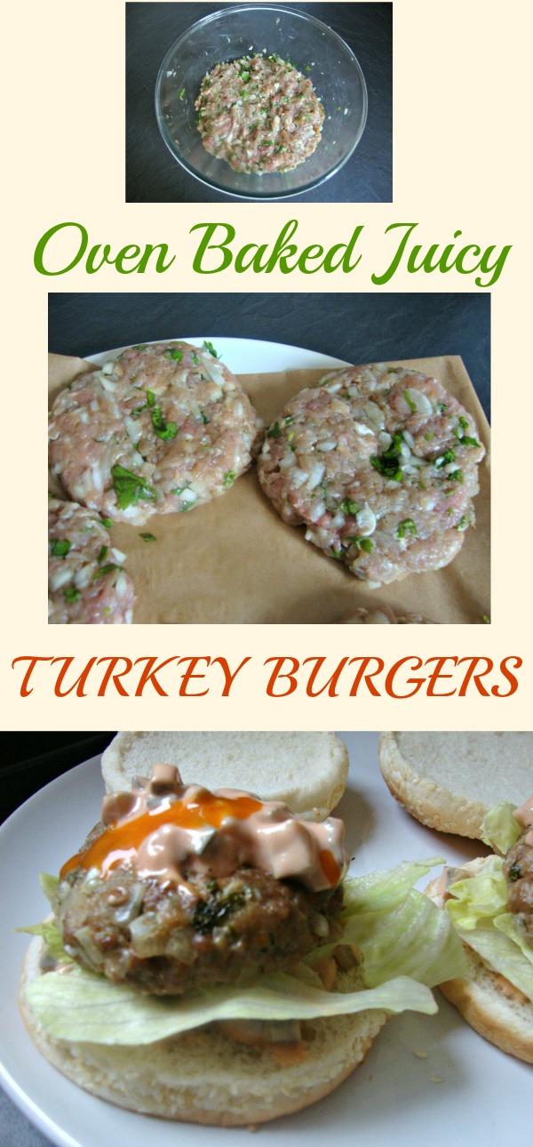 OVEN BAKED JUICY TURKEY BURGERS