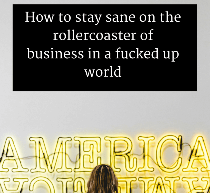 How to stay sane on the rollercoaster of business in a fucked up world