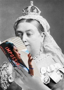 Queen Victoria finds my book impossible to put down on I Read Canadian Day!