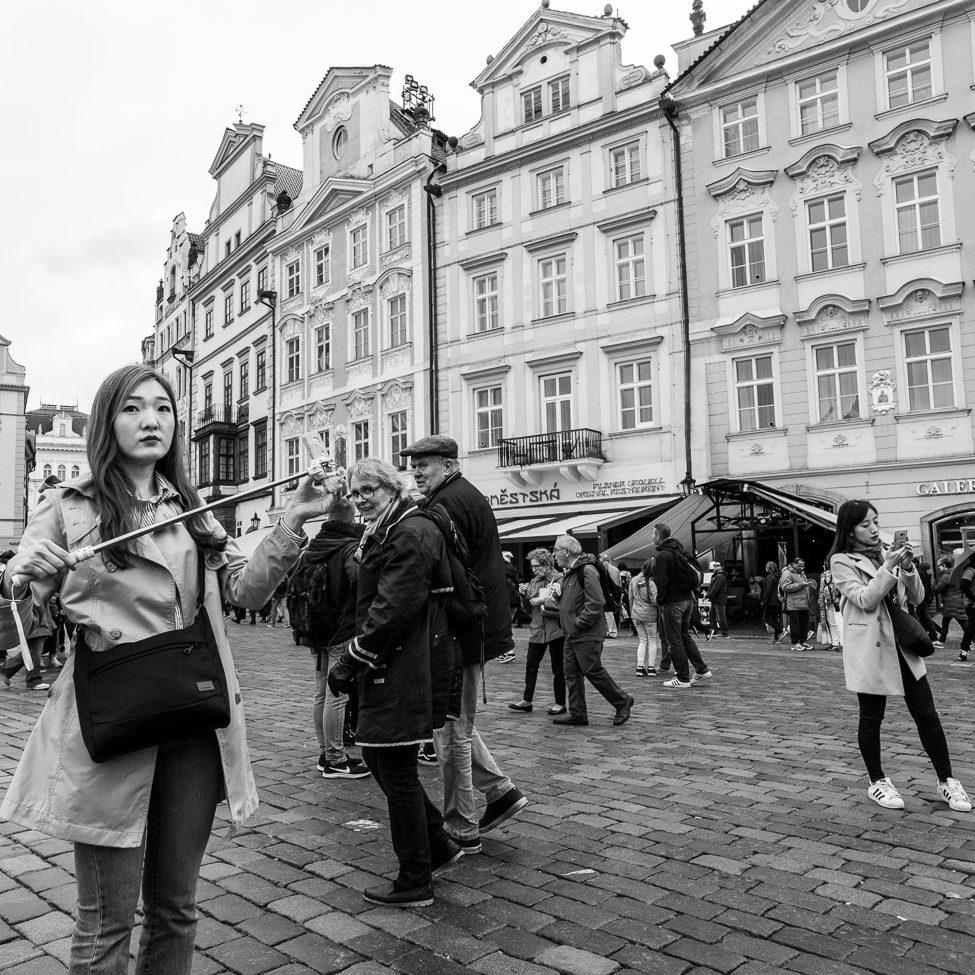 Touristengeknipse aus Prag oder die unerträgliche Leichtigkeit den entscheidenden Moment zu verpassen