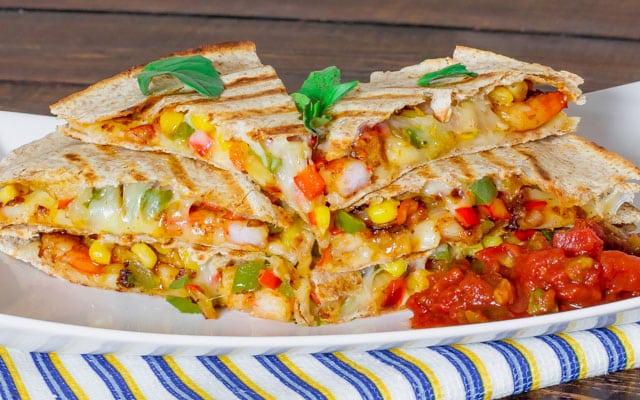 Shrimp Goes Southwest! {5 Marvelous Ways to Spice Up My Favorite Food} Shrimp Quesadillas | bumblebits.co