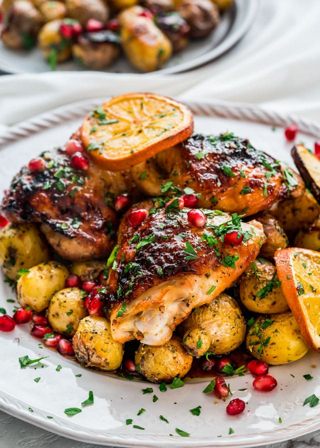 One Pan Roasted Honey Orange Chicken and Potatoes with incredible flavors, simple to prepare, everything you want in a hearty and comforting meal.
